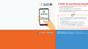 COVID-19 and Mental Health flyer