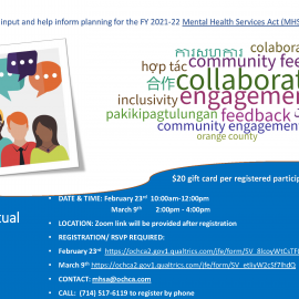 Community Engagement Meeting Flyer